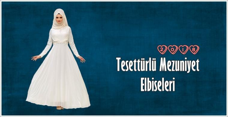 Tesettürlü 2018 Mezuniyet Elbiseleri