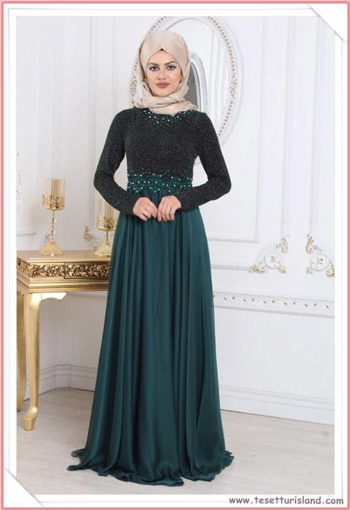2018 Tesettürlü Mezuniyet Elbisesi Modelleri