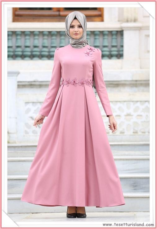 8704583c9ec59 Puane Tesettürlü Abiye Elbise Modelleri 2018 (2) - Tesettür Diyarı