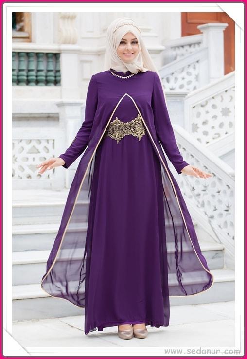 büyük beden abiye elbise tesettürlü