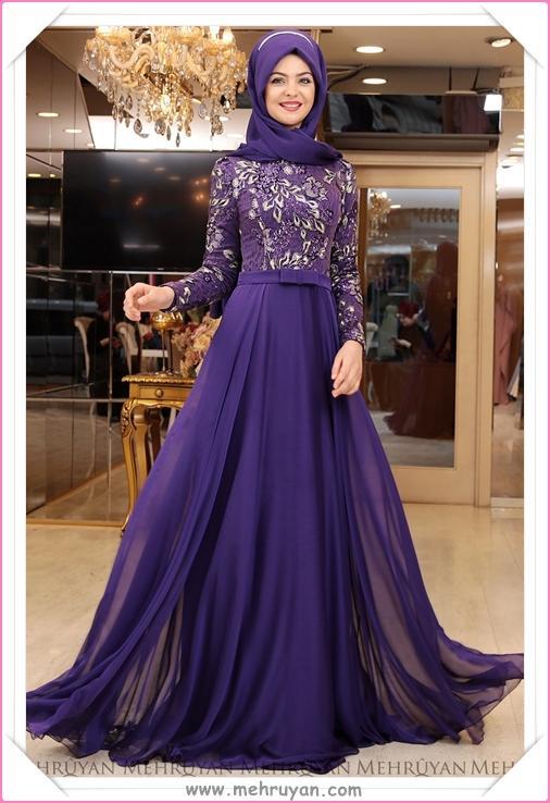 641d00f247a53 En Güzel Tesettürlü Nişan Elbisesi Modelleri (11) - Tesettür Diyarı