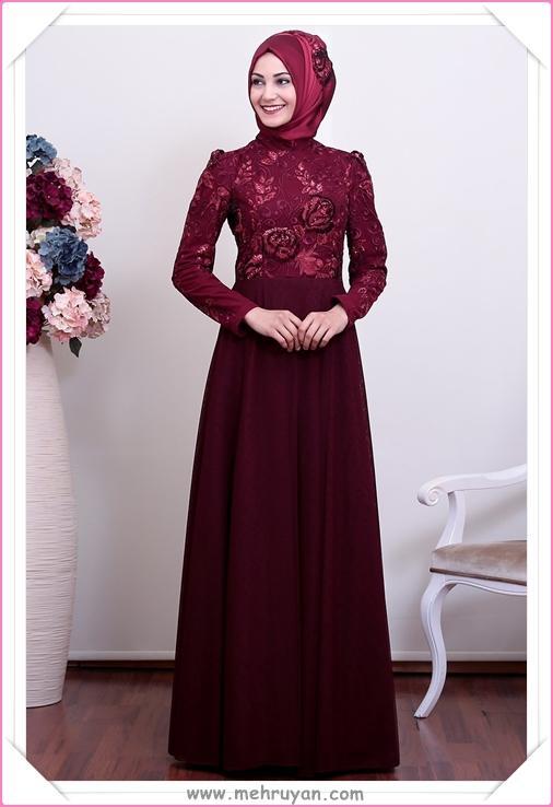 Tesettür Giyim Nişan Elbisesi Modelleri