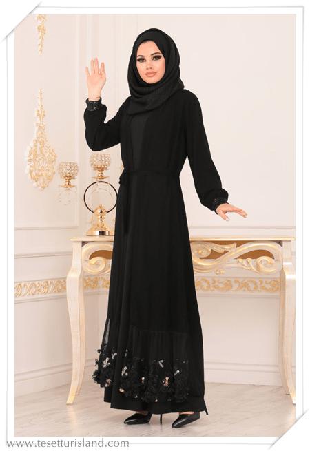 4ee354300be1b Tesettür Abaya Modelleri 2019 Hijab Lookbook (18) - Tesettür Diyarı