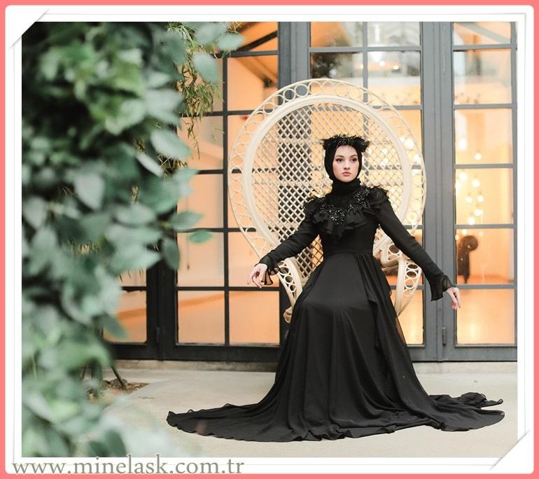 Minel Aşk Özel Koleksiyon Abiye Modelleri 2021 Tesettür Giyim