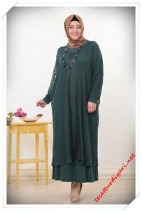 2513a89aabd9c Büyük Beden Tesettür Elbiseler 2015-2016   Tesettür Diyarı