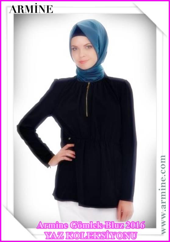 Armine Tesettürlü Gömlek Bluz Modelleri