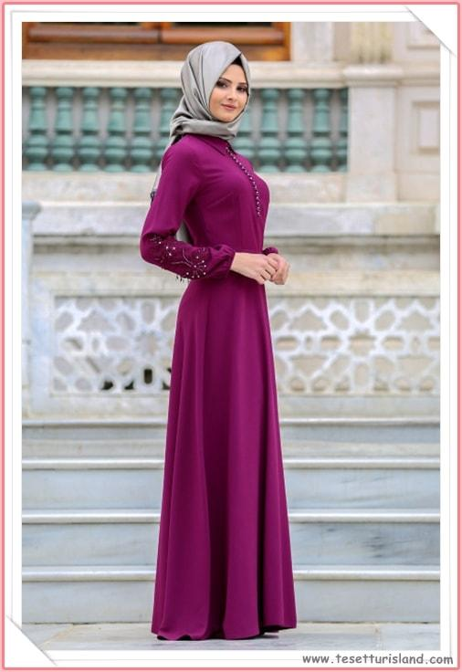 90532cf4c08f8 Puane Tesettürlü Abiye Elbise Modelleri 2018 (16) - Tesettür Diyarı