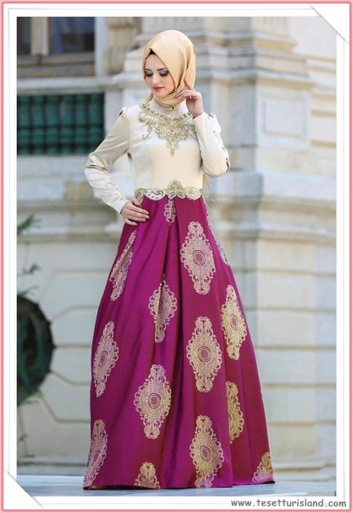 Puane Tesettür Abiye Elbise Modelleri 2018 Yeni