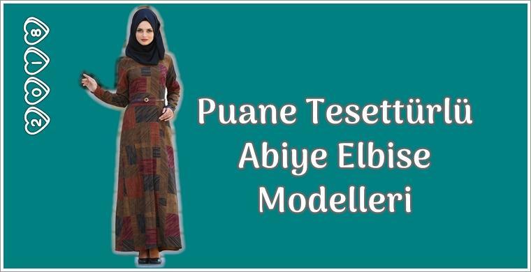 Yeni tesettür abiye elbise modelleri