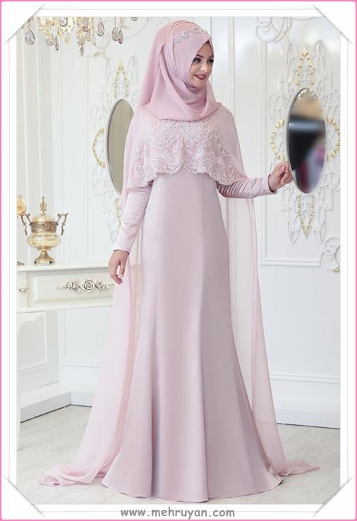 9a2164274824a En Güzel Tesettürlü Nişan Elbisesi Modelleri (10) - Tesettür Diyarı