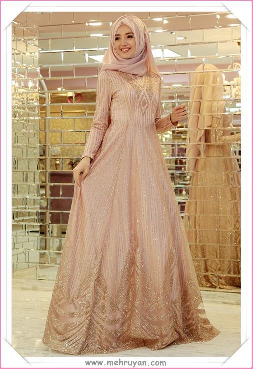 9b8a3131a4ec9 En Güzel Tesettürlü Nişan Elbisesi Modelleri (4) - Tesettür Diyarı