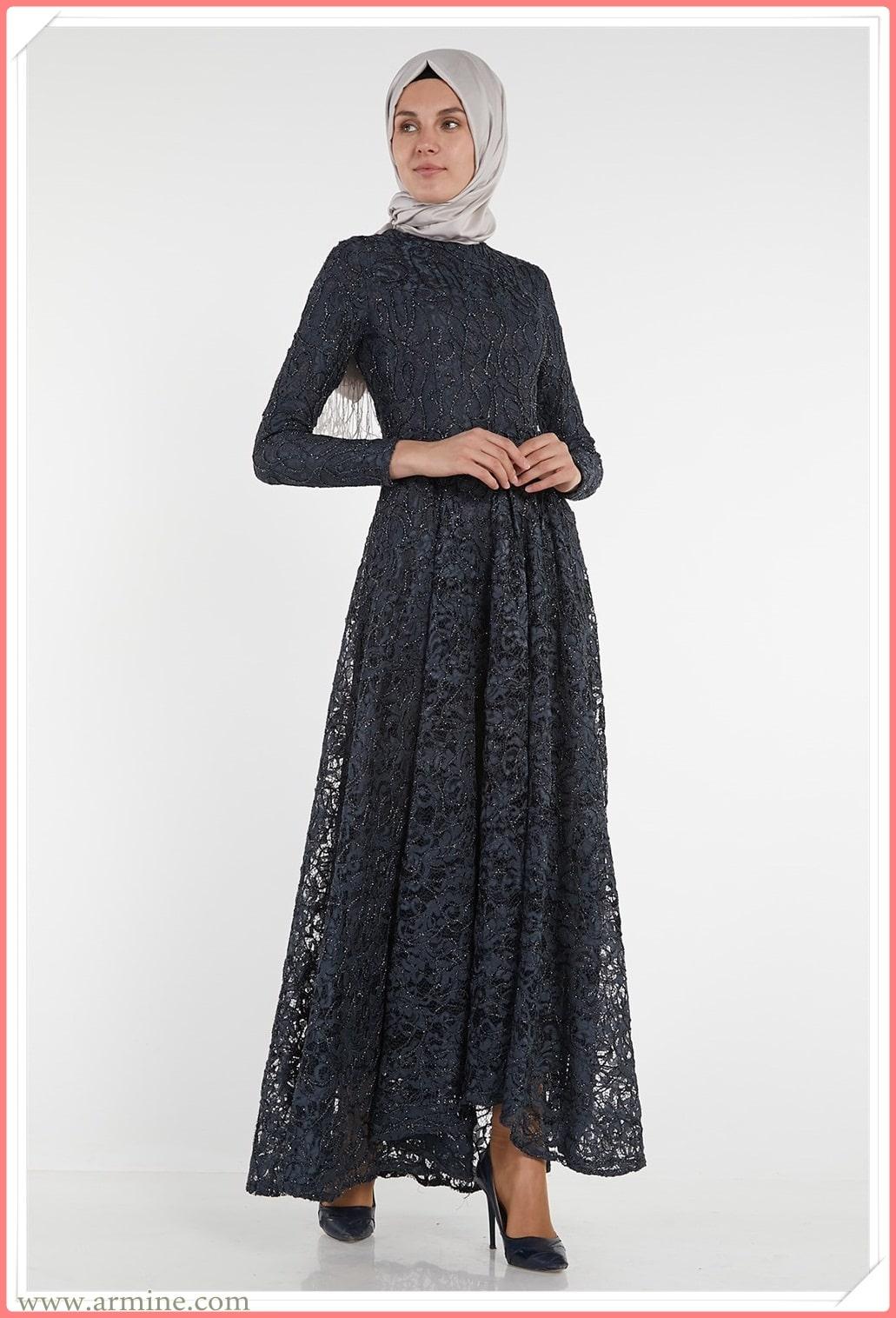armine 2021 tesettür abiye elbise modelleri