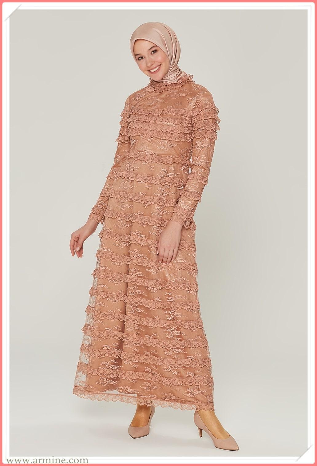 en güzel tesettür abiye elbise modelleri 2021 koleksiyonu