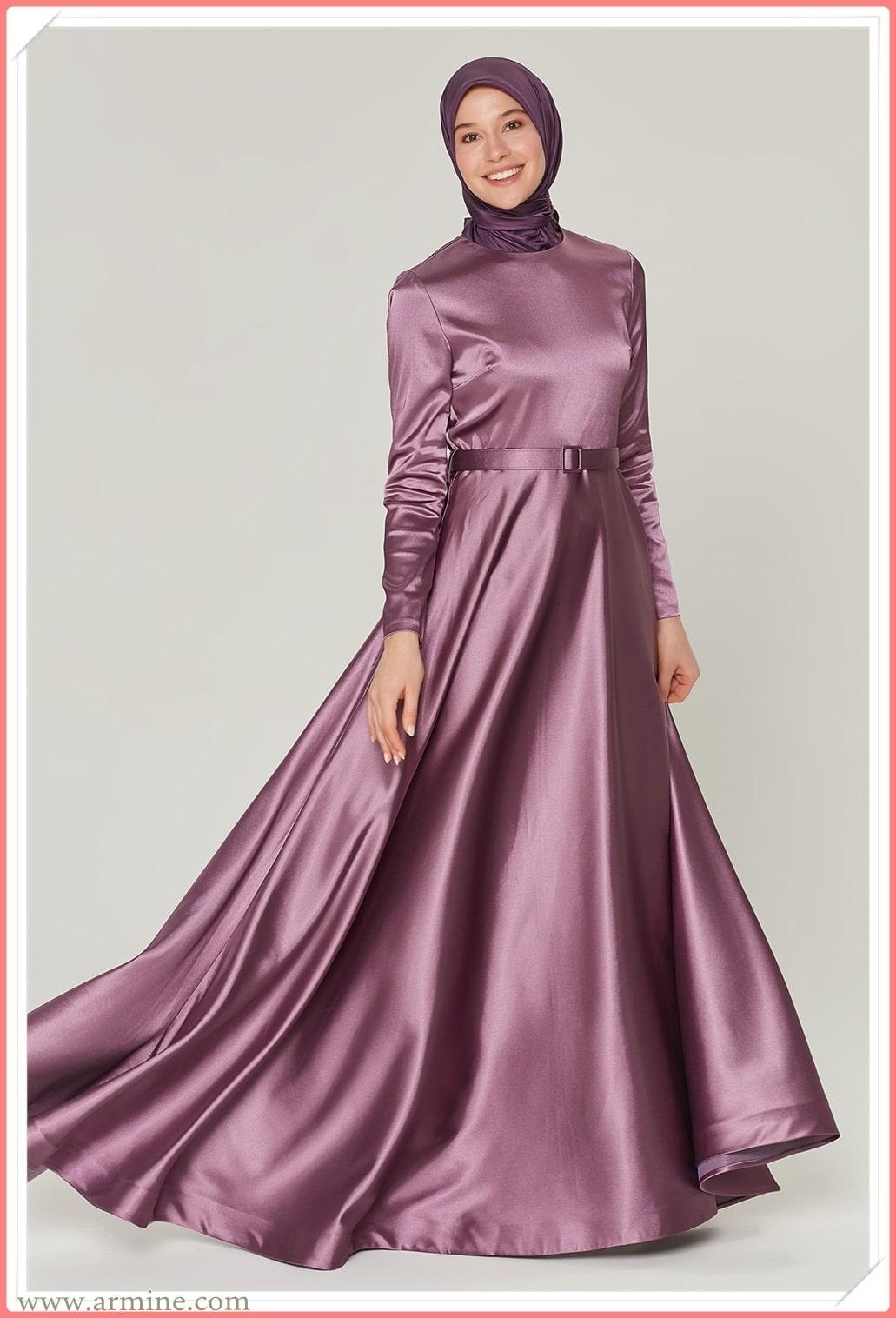 en güzel tesettür giyim armine abiye elbise modelleri