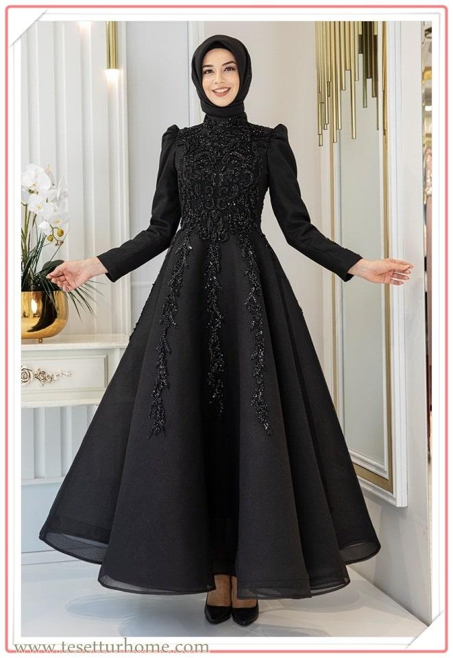 tesettür nişan elbisesi modelleri 2021 yeni sezon